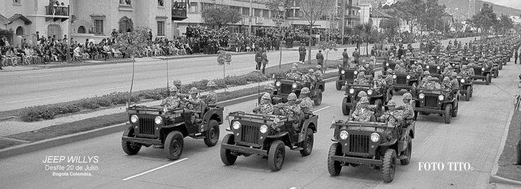 Jeep Willys Desfile 20 de Julio Fotografía: Tito Julio Celis