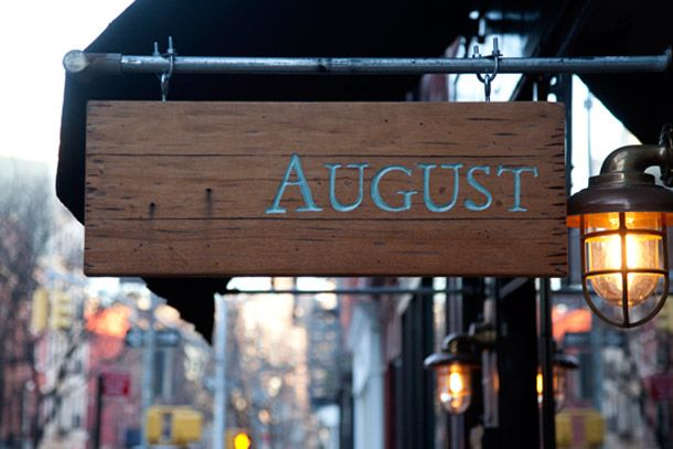 NYC meal to precede the rustic/modern vibe of the farmhouse? @ Josh Nava!! I want a sign like this
