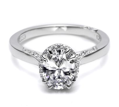 Tacori oval diamond engagement ring