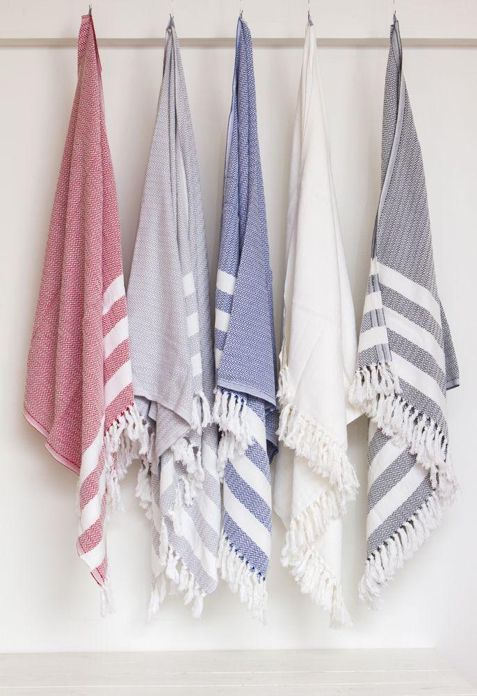 Retro Organic Cotton Bath Towel