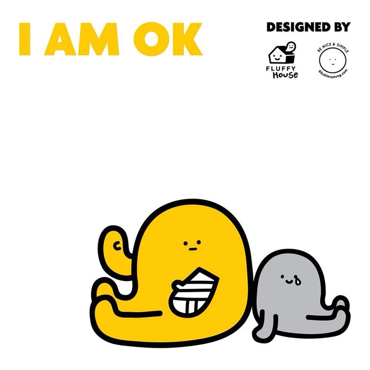 I AM OK figure set! Brought to you by Fluffy House & Bubi Au Yeung.