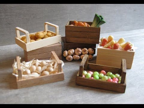 In This Tutorial, I Show You How To Make Two Different Styles Of Vegetable  / Fruit Crates, Which Would Make A Nice Addition To A Rustic Farm Scene Or  A ...