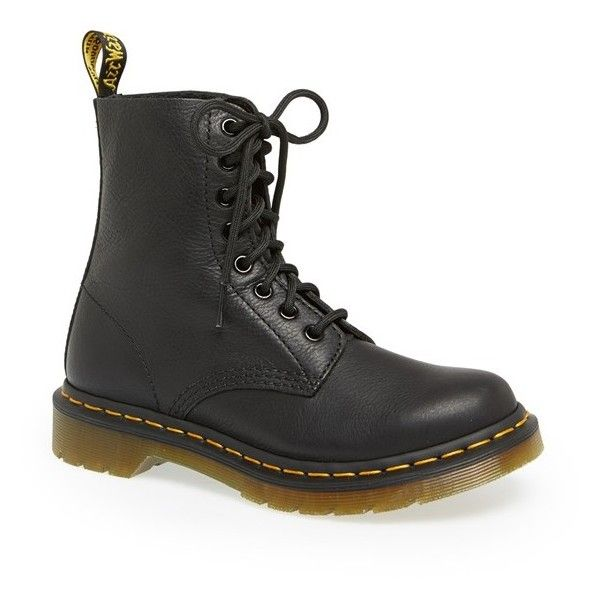 Women's Dr. Martens 'Pascal' Boot ($135) ❤ liked on Polyvore featuring shoes, boots, +shoes, black virginia, black grunge boots, print boots, dr martens shoes, kohl shoes and dr martens footwear