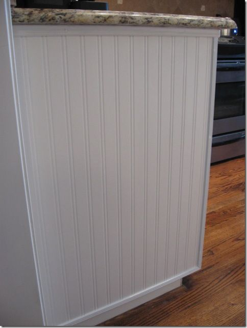 bead board wallpaper instead of the real thing...paintable and super easy to install.  Cuts with scissors.