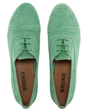 mint oxfords with detailing