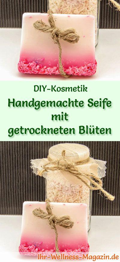 Seife herstellen - Seifen-Rezept: Handgemachte Seife mit getrockneten Blüten - Bei dieser blumigen Seifenkomposition können Sie Ihrer Fantasie freien Lauf lassen ...