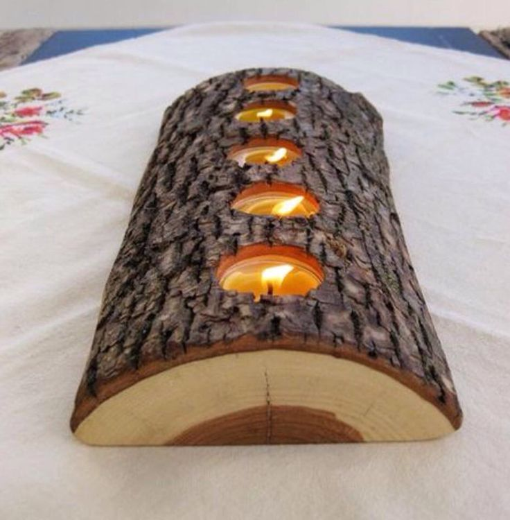 Candle holder -wood