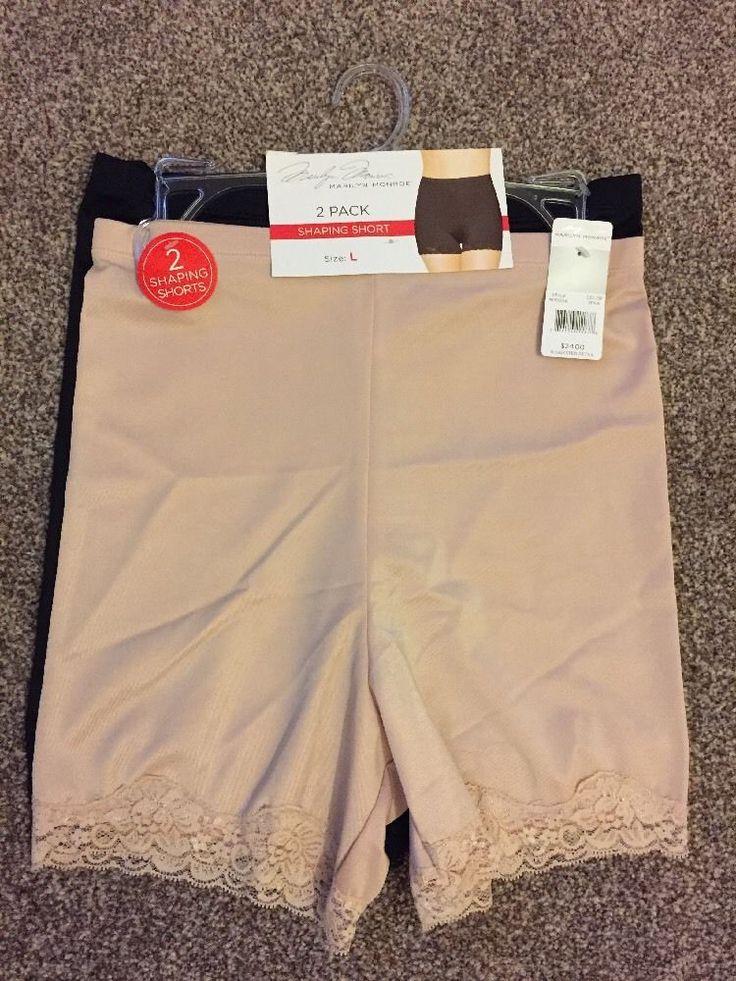 2X MARILYN MONROE Shaping Shorts/Control knickers Set UK/USA-L BNWT RRP$24