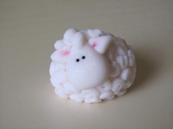 Clay Christmas Lamb. $8.50, via Etsy.