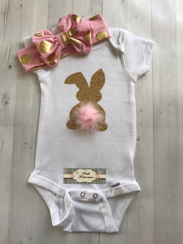 70a9c319e936 Ostern Baby Mädchen Glitter Bunny Strampelanzug