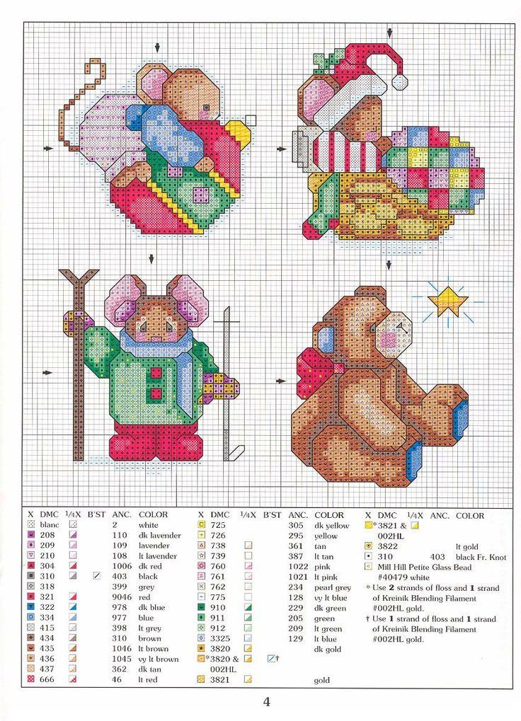 Cross-stitch Christmas Mice, part 4