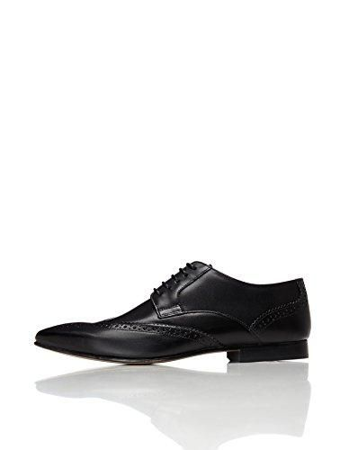 Oferta: 50€. Comprar Ofertas de FIND Zapato Blucher de Piel con Calados para Hombre, Negro (Black), 43 EU barato. ¡Mira las ofertas!