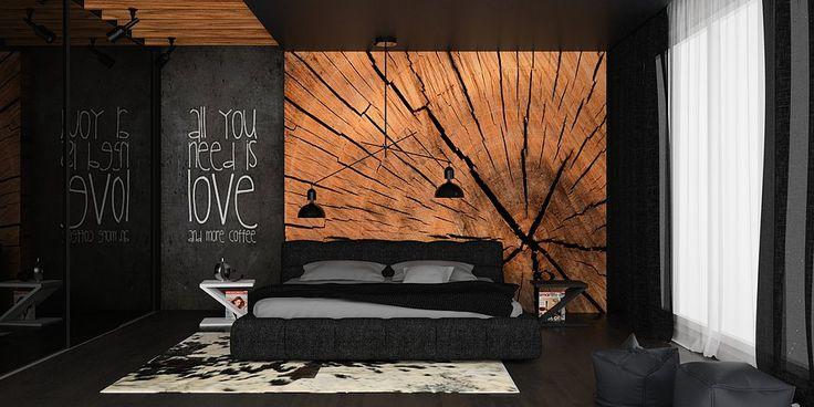 black interior design, bedroom ideas, bedroom design, black bedroom, dark interior