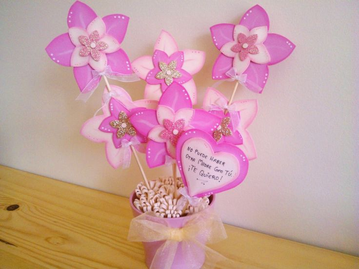 26 best macetas decoradas flores en goma eva images on pinterest