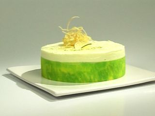 Torta de queso y mangos