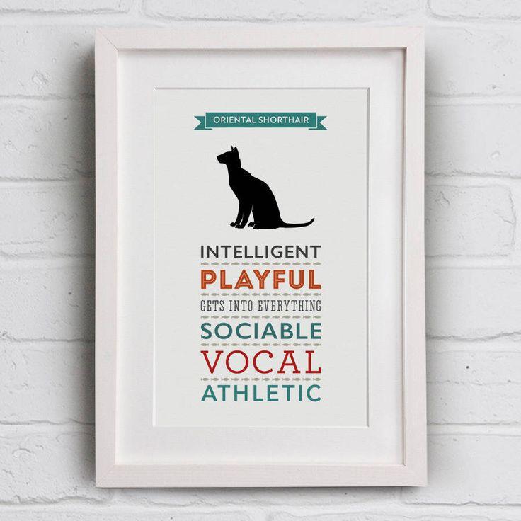 Oriental Shorthair Cat Breed Traits Print