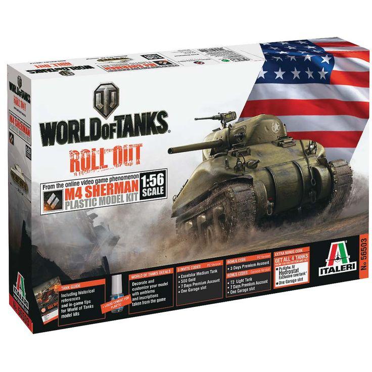Italeri 1/56 World Of Tanks M4 Sherman