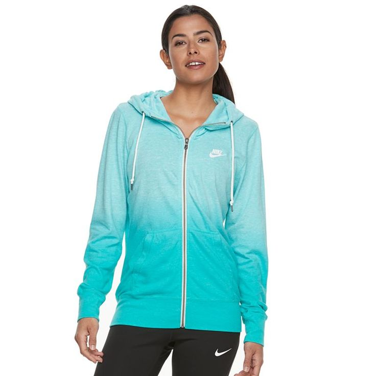 Women's Nike Sportswear Vintage Ombre Zip Up Hoodie, Size: Medium, Turquoise/Blue (Turq/Aqua)
