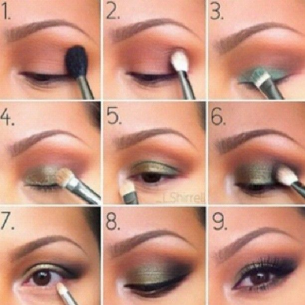 green bronze makeup tutorial