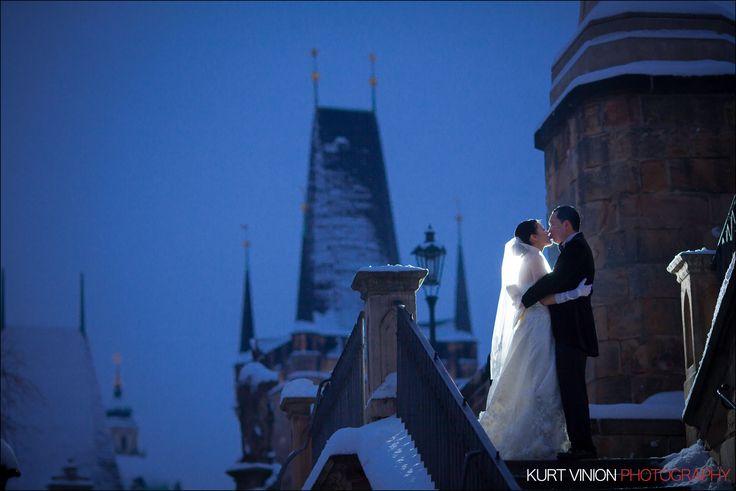 Helen & CY's beautiful Winter Pre-Wedding Portrait Session in Prague by Kurt Vinion (USA), The Prague Wedding & Luxury Lifestyle Portrait Photographer