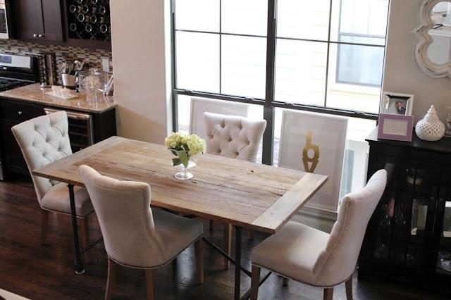 Veronika's Blushing- our dining room!