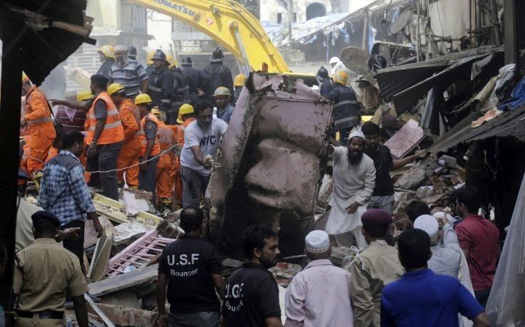 Εννιά νεκροί μετά την κατάρρευση κτιρίου στην Ινδία