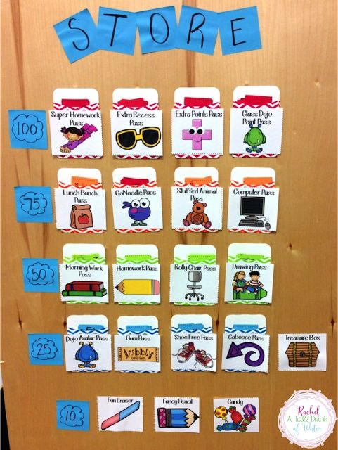 An easy and quick way to set up a classroom store that won't be a hassle every time!