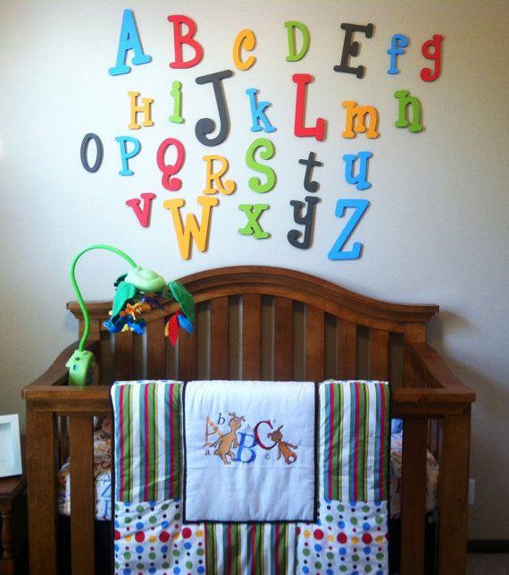 Baby Nursery Art Print Dog Abc Nursery Decor Alphabet Print: 25+ Best Ideas About Abc Wall On Pinterest
