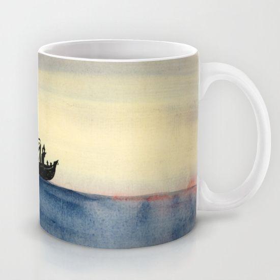 The mast is broken. Red fog rising. We sail ever.  Mug by Mirjam Palosaari Eladhari - $15.00