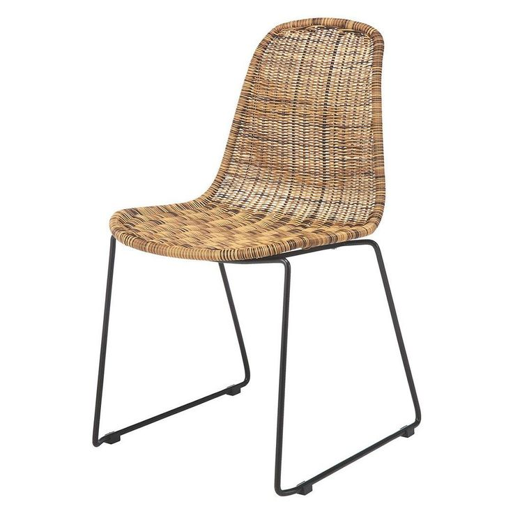 Natural rattan dining chair with black metal leg base. Suitable for variery dining table styles.  #bali #balifurniture #customfurniture #design #furniture #furniturebali #furnituredesign #furniturejepara #furnituremaker #instadaily #instagood #interior #interiordesign #jeparafurniture #picoftheday #rattan #rattanfurniture #tagforlikes #wicker #wickerfurniture #yunibali #diningchair