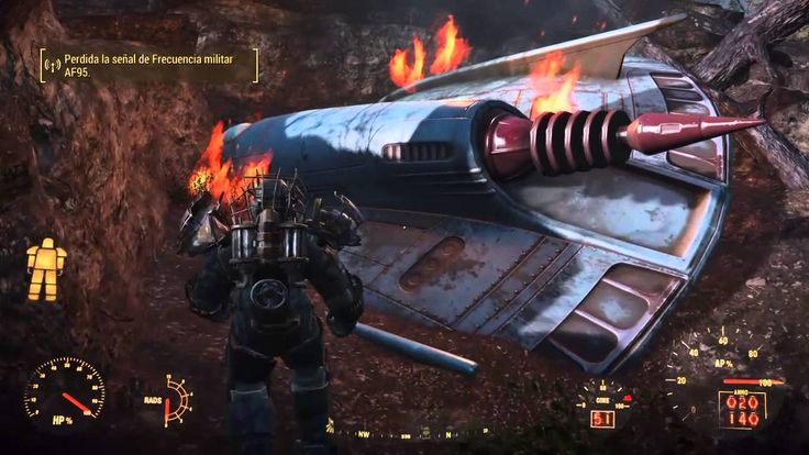 Fallout 4 - Ubicación del OVNI estrellado y el BLASTER ALIENÍGENA - Arma Legendaria (Secreto)