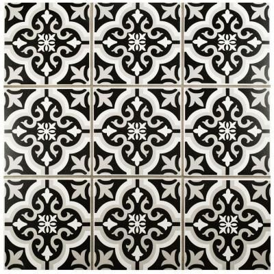 Merola Tile Braga Classic 7-3/4 in. x 7-3/4 in. Ceramic Floor and Wall Tile  (10.76 sq. ft. / case). Bathroom DesignsWall ...