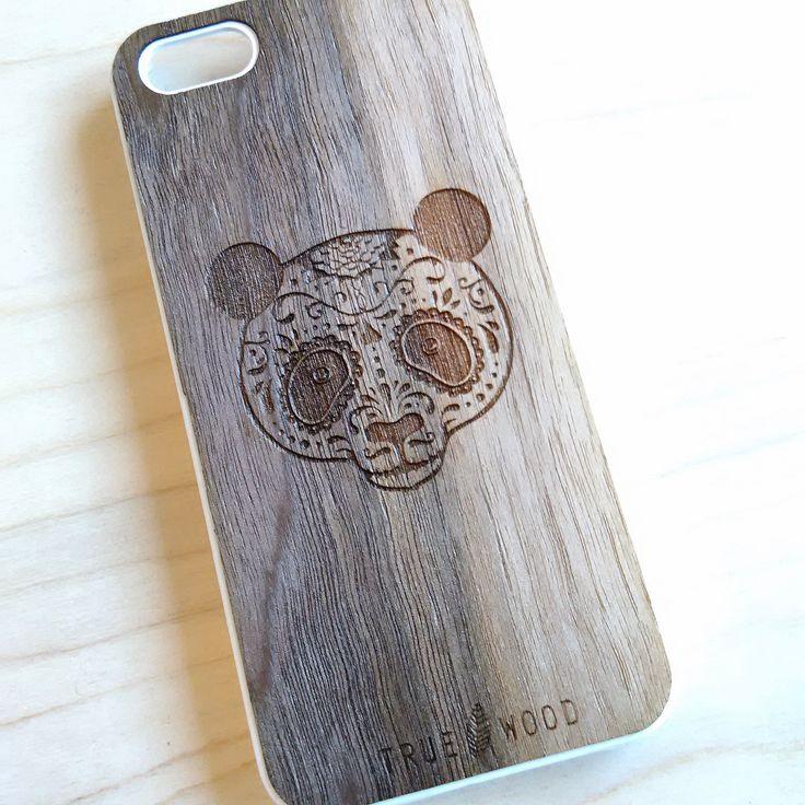 """iPhone 5S case """"Panda""""  #woodenaccessories #iphone #iphonecases #woodencases #iphone5 #чехолдляiphone"""