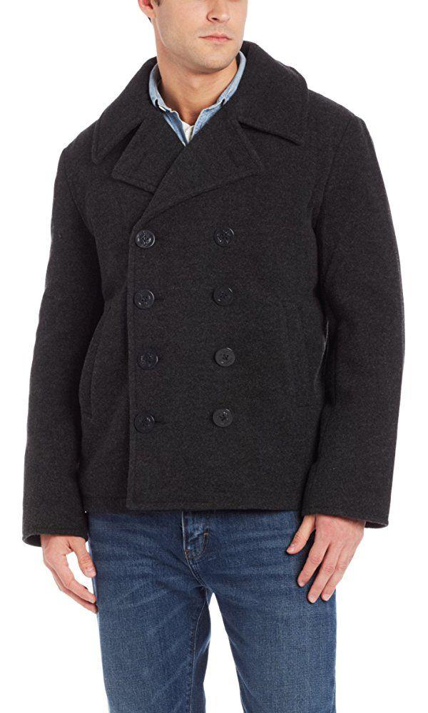 Alpha Industries Men's USN Wool Pea Coat, Grey, XX-Large Best Price