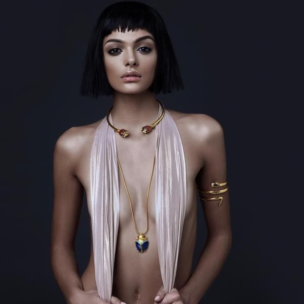 Mystical Healing Gemstone Jewellery. Gold & Gemstone Scarab Necklace.