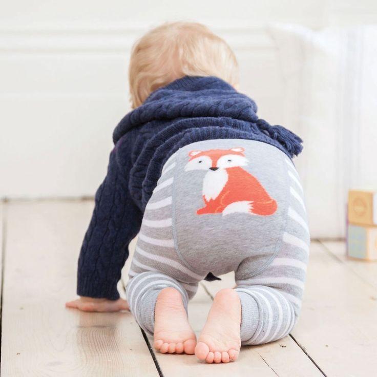 Fox Stripe Baby Leggings | JoJo Maman Bébé