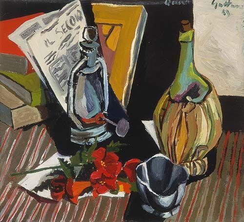 """Renato Guttuso """"Natura morta col giornale"""", 1943 #MuseoNovecento #Arte #Art #modernart"""