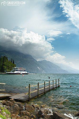 footbridge - Riva del Garda, Province of Trentino , Trentino alto Adige region Italy