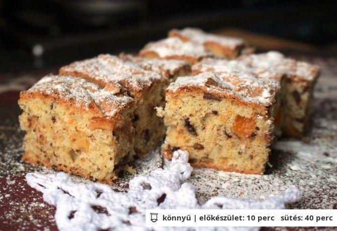 Narancsos-marcipános fehér püspökkocka | NOSALTY – receptek képekkel