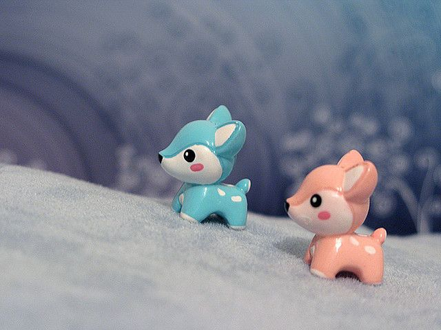 Cutesy Deer Charms. What perfect little charms! They were molded quite well.