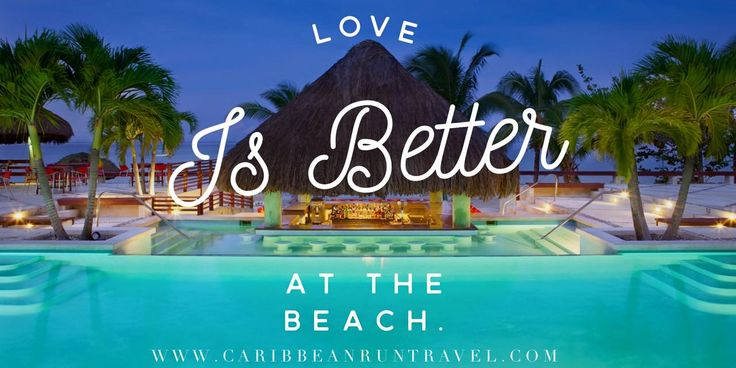 Love is definitely better at the beach! Don't you think? And how does this #oceanfront #swimupbar at Couples Negril Resort Negril, Jamaica look to you?! I want to be there NOW! #Negril #Jamaica #honeymoon #destinationwedding #caribbeanruntravel #travelagent