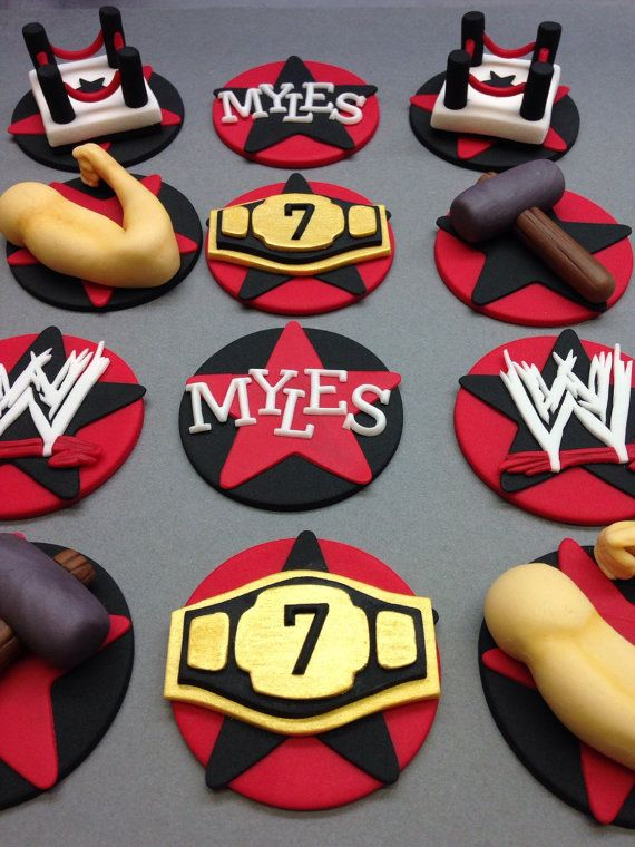 wwe cake toppers 240 best images about cupcakes on themed 1503