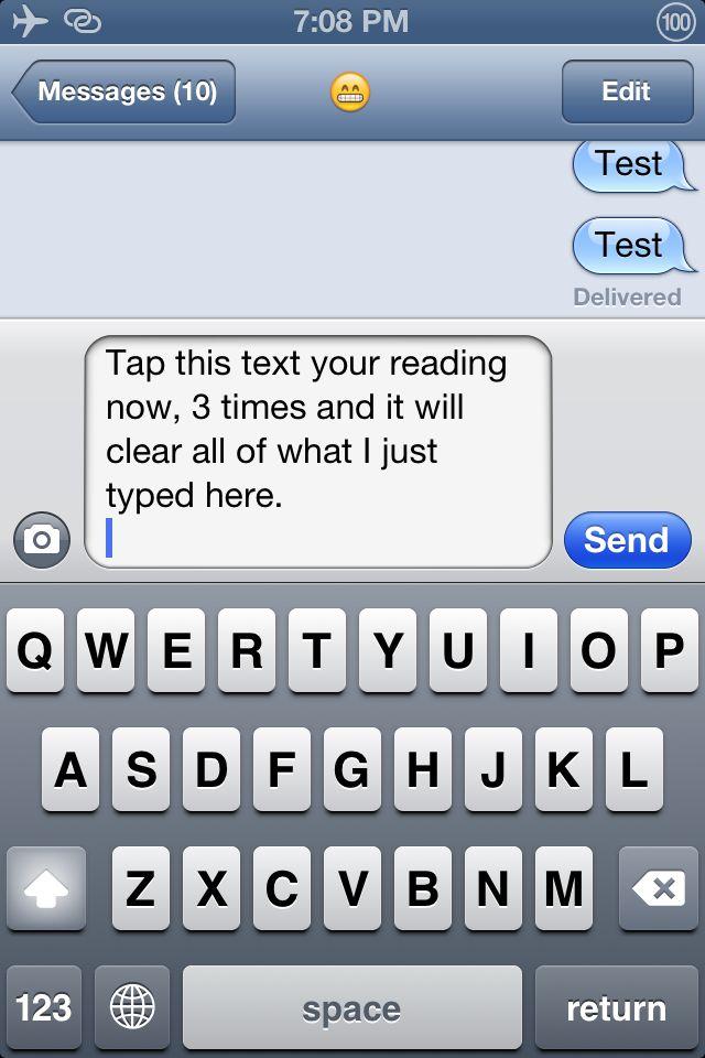 Triple Tap To Clear simplifica procesul de stergere a textelor introduse in casuta de scriere a mesajelor