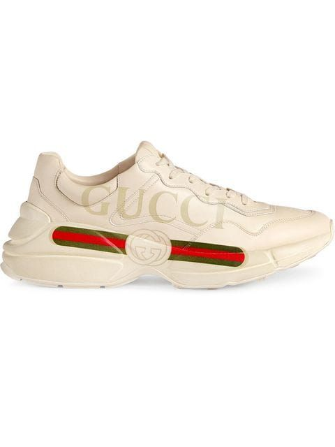 1f208741faf Gucci Rhyton Fake Logo Leather Sneakers in 2019 | inspiration ...
