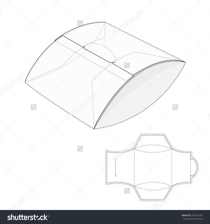 Pillow Package With Blueprint Template Stock Vector Illustration 303757367 : Shutterstock