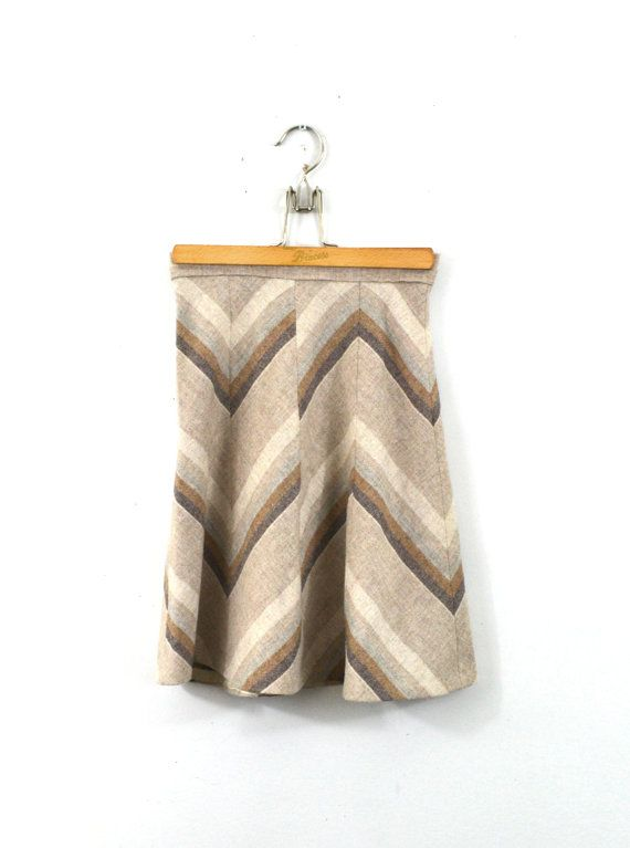 Chevron Skirt Pleated Skirt Hippy Skirt Hippie by founditinatlanta