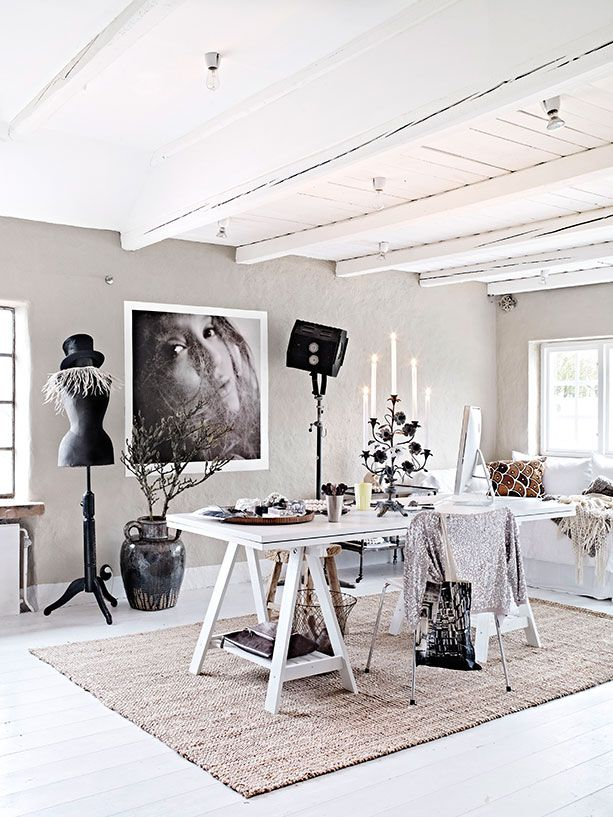 Home tour of Swedish photographer Hannah Lemholt