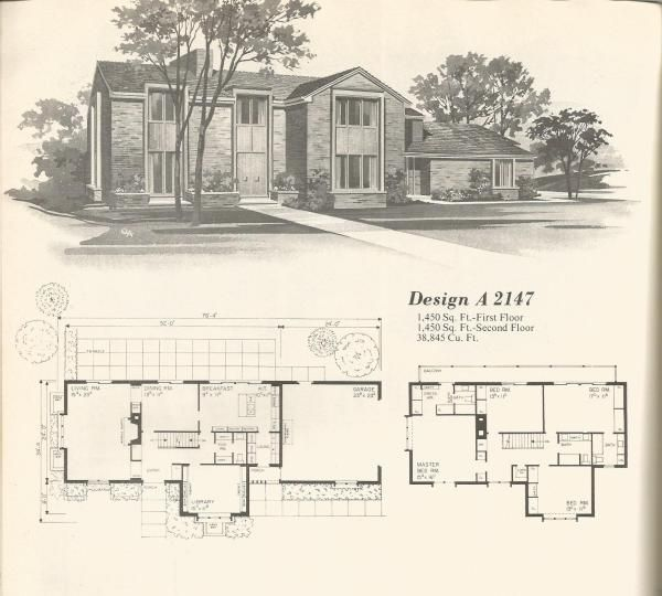 Vintage House Plans 1970s Contemporary Designs In 2020