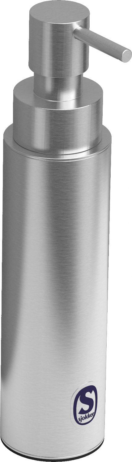 Clou Sjokker zeepdispenser 100cc staand model rvs geborsteld  Description: Zeepdispenser 100cc staand model rvs geborsteld. Prijs per stukd.58 x h.176 cm ø 4 cm  Price: 86.15  Meer informatie