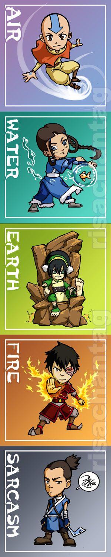 Avatar: Five Elements Chibis by Risachantag.deviantart.com on @deviantART